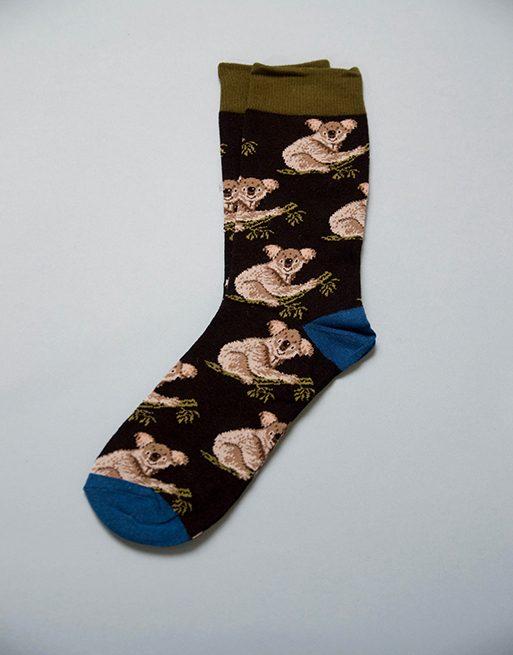 גרביים עם דוב קואלה תלוי על ענף