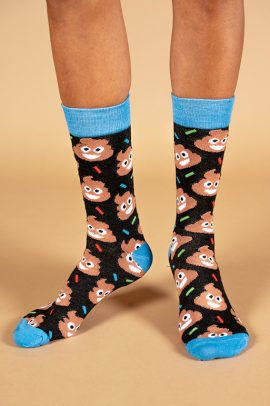 גרביים בעיצוב אימוג׳י קקי מחייך