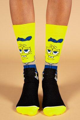 גרביים בעיצוב בוב ספוג בשחור