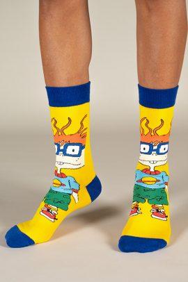 גרביים בעיצוב צ׳אקי פינסטר מראגרטס בצהוב