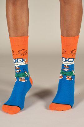 גרביים בעיצוב צ׳אקי פינסטר מראגרטס כתום