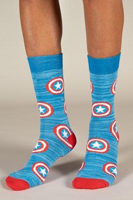 גרביים בעיצוב לוגו קפטן אמריקה