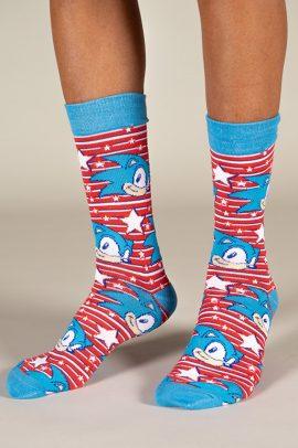 גרביים בעיצוב סוניק הקיפוד