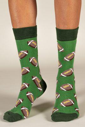 גרביים בעיצוב פוטבול ירוק